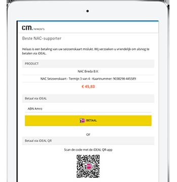 Autocollect paiements tablette