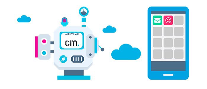 Processus Hybrid Messaging SMS et Push