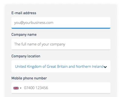 SMS registratie