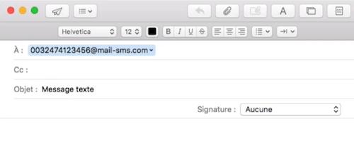voorbeeld mail sms