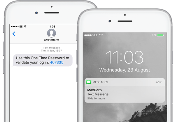 Mobile OTP message