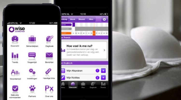 borstkanker app Owise telefoon