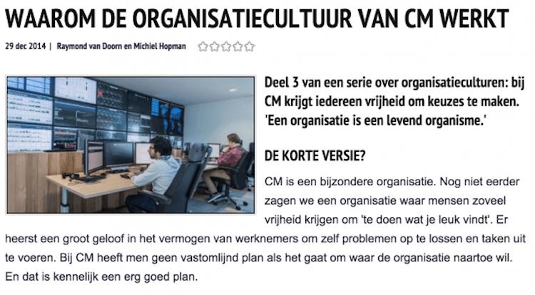 MT: Waarom de organisatiecultuur van CM werkt