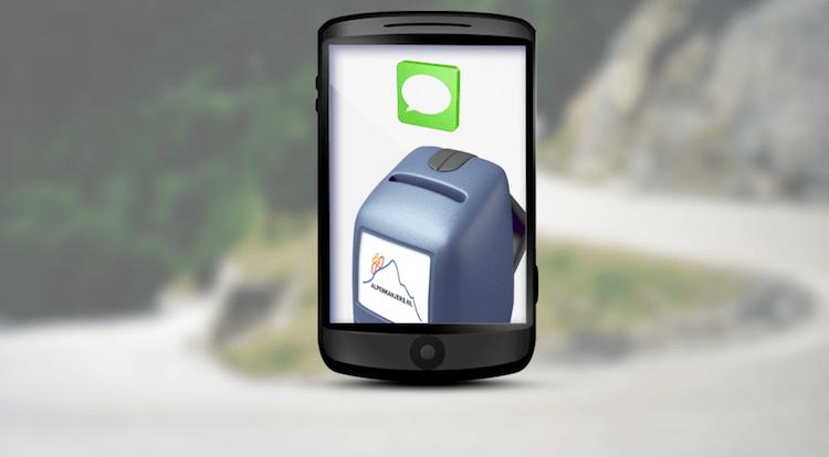 SMS-donatie tijdens Alpe d'HuZes