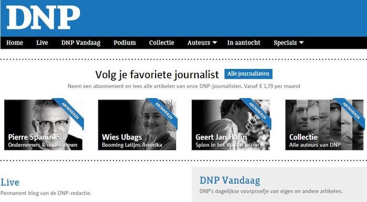 Digitale krant DNP voert SMS-betaalmuur in