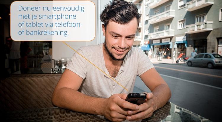 Doneren vanaf nu mobiel: GEEF-mobiel officieel van start