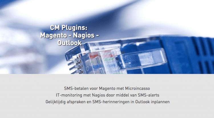 CM Plugins: SMS-betalen voor Magento, IT-monitoring Nagios, SMS-herinneringen