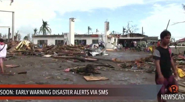 Filippijnse wet voorziet in gratis SMS-alerts bij rampen