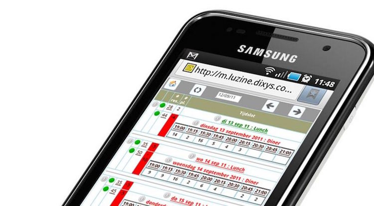 restaurantreservering via sms