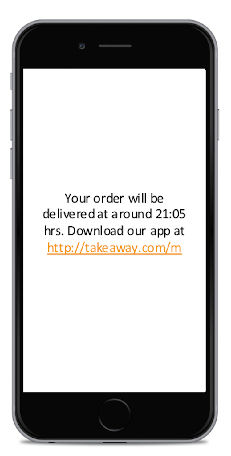 Takeaway.com instant mobile notifications