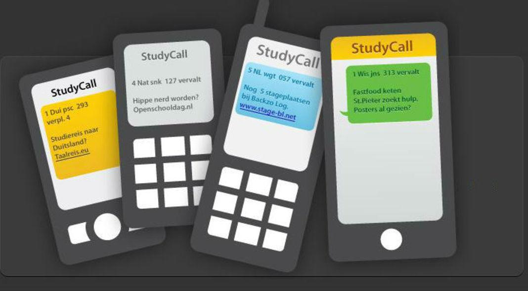 sms studycall roosterwijzigingen