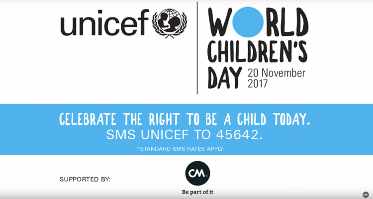 World Childrens Day UNICEF and CM.com