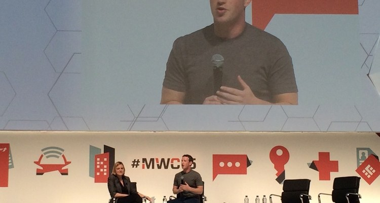 Mark Zuckerberg at Mobile World Congress