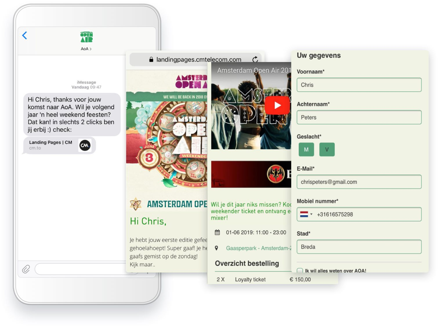 Example Kingdance chatbot cm.com