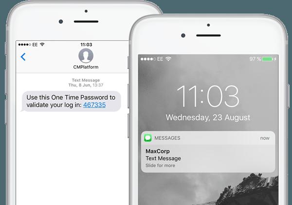 One Time Passwords via SMS